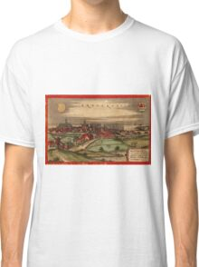 Brouwershaven Vintage map.Geography Netherlands ,city view,building,political,Lithography,historical fashion,geo design,Cartography,Country,Science,history,urban Classic T-Shirt