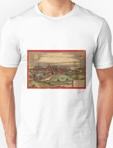 Brouwershaven Vintage map.Geography Netherlands ,city view,building,political,Lithography,historical fashion,geo design,Cartography,Country,Science,history,urban Unisex T-Shirt