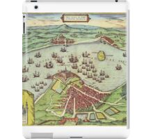 Helsingor Vintage map.Geography Denmark ,city view,building,political,Lithography,historical fashion,geo design,Cartography,Country,Science,history,urban iPad Case/Skin
