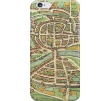 Bristol Vintage map.Geography Great Britain ,city view,building,political,Lithography,historical fashion,geo design,Cartography,Country,Science,history,urban iPhone Case/Skin