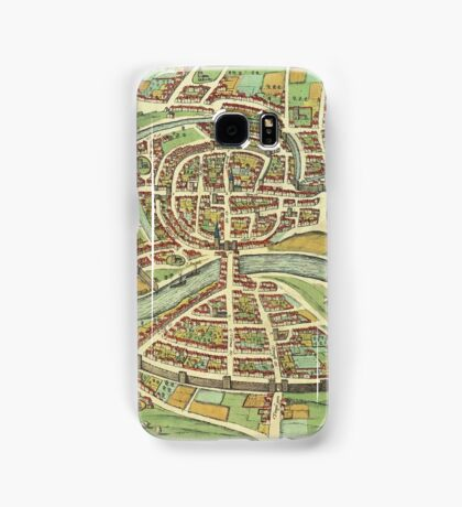 Bristol Vintage map.Geography Great Britain ,city view,building,political,Lithography,historical fashion,geo design,Cartography,Country,Science,history,urban Samsung Galaxy Case/Skin