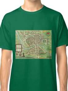 Bristol Vintage map.Geography Great Britain ,city view,building,political,Lithography,historical fashion,geo design,Cartography,Country,Science,history,urban Classic T-Shirt