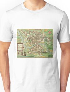 Bristol Vintage map.Geography Great Britain ,city view,building,political,Lithography,historical fashion,geo design,Cartography,Country,Science,history,urban Unisex T-Shirt