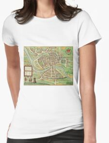 Bristol Vintage map.Geography Great Britain ,city view,building,political,Lithography,historical fashion,geo design,Cartography,Country,Science,history,urban Womens Fitted T-Shirt