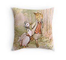 Jemima Puddleduck and the Fox Throw Pillow