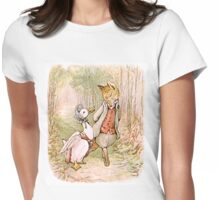Jemima Puddleduck and the Fox Womens Fitted T-Shirt