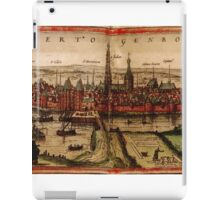 Hertogenbosch Vintage map.Geography Netherlands ,city view,building,political,Lithography,historical fashion,geo design,Cartography,Country,Science,history,urban iPad Case/Skin