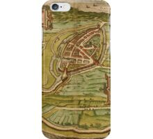 Brielle Vintage map.Geography Netherlands ,city view,building,political,Lithography,historical fashion,geo design,Cartography,Country,Science,history,urban iPhone Case/Skin