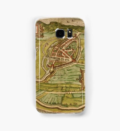 Brielle Vintage map.Geography Netherlands ,city view,building,political,Lithography,historical fashion,geo design,Cartography,Country,Science,history,urban Samsung Galaxy Case/Skin