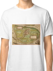 Brielle Vintage map.Geography Netherlands ,city view,building,political,Lithography,historical fashion,geo design,Cartography,Country,Science,history,urban Classic T-Shirt