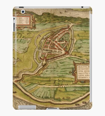 Brielle Vintage map.Geography Netherlands ,city view,building,political,Lithography,historical fashion,geo design,Cartography,Country,Science,history,urban iPad Case/Skin