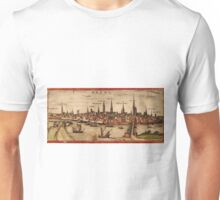 Bremen Vintage map.Geography Germany ,city view,building,political,Lithography,historical fashion,geo design,Cartography,Country,Science,history,urban Unisex T-Shirt