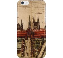 Braunschweig Vintage map.Geography Germany ,city view,building,political,Lithography,historical fashion,geo design,Cartography,Country,Science,history,urban iPhone Case/Skin