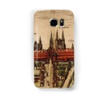 Braunschweig Vintage map.Geography Germany ,city view,building,political,Lithography,historical fashion,geo design,Cartography,Country,Science,history,urban Samsung Galaxy Case/Skin
