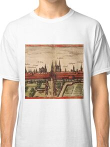 Braunschweig Vintage map.Geography Germany ,city view,building,political,Lithography,historical fashion,geo design,Cartography,Country,Science,history,urban Classic T-Shirt