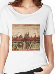 Braunschweig Vintage map.Geography Germany ,city view,building,political,Lithography,historical fashion,geo design,Cartography,Country,Science,history,urban Women's Relaxed Fit T-Shirt