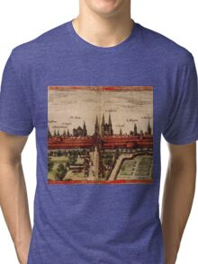 Braunschweig Vintage map.Geography Germany ,city view,building,political,Lithography,historical fashion,geo design,Cartography,Country,Science,history,urban Tri-blend T-Shirt