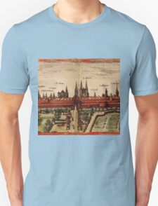 Braunschweig Vintage map.Geography Germany ,city view,building,political,Lithography,historical fashion,geo design,Cartography,Country,Science,history,urban Unisex T-Shirt