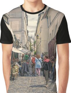 On the streets of Montmartre Graphic T-Shirt