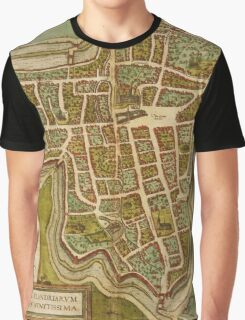 Ieper Vintage map.Geography Belgium ,city view,building,political,Lithography,historical fashion,geo design,Cartography,Country,Science,history,urban Graphic T-Shirt