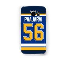 St. Louis Blues Magnus Paajarvi Jersey Back Phone Case Samsung Galaxy Case/Skin