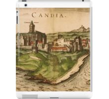Iraklion Vintage map.Geography Greece ,city view,building,political,Lithography,historical fashion,geo design,Cartography,Country,Science,history,urban iPad Case/Skin
