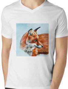 Fox Look Out Mens V-Neck T-Shirt