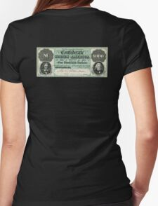 AMERICAN, Civil War, Confederate States, Dollar, $1000, Greyback, America, US, USA Womens Fitted T-Shirt
