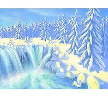 Winter Falls Photographic Print