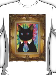 Psychedelic Business Cat T-Shirt