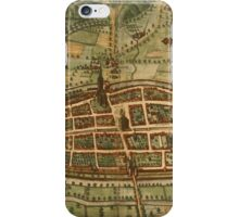 Kalkar Vintage map.Geography Germany ,city view,building,political,Lithography,historical fashion,geo design,Cartography,Country,Science,history,urban iPhone Case/Skin