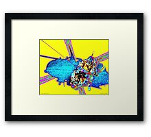 Code Yellow Rescue Framed Print