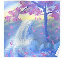 Sakura Falls Poster