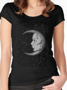 Moonlady Illustration Women's Fitted Scoop T-Shirt