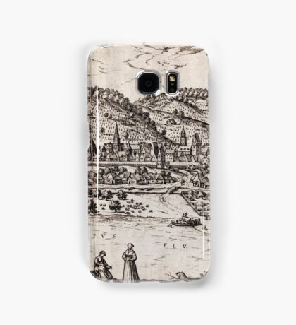 Bratislava Vintage map.Geography Slovakia ,city view,building,political,Lithography,historical fashion,geo design,Cartography,Country,Science,history,urban Samsung Galaxy Case/Skin
