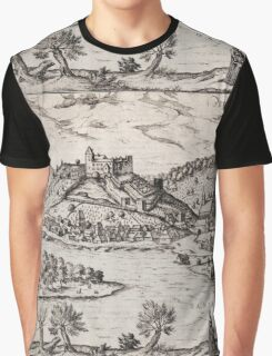 Bratislava Vintage map.Geography Slovakia ,city view,building,political,Lithography,historical fashion,geo design,Cartography,Country,Science,history,urban Graphic T-Shirt