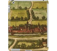 Bourbourg Vintage map.Geography France ,city view,building,political,Lithography,historical fashion,geo design,Cartography,Country,Science,history,urban iPad Case/Skin