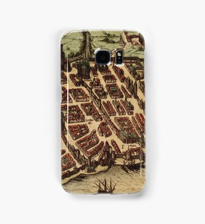 Bordeaux Vintage map.Geography France ,city view,building,political,Lithography,historical fashion,geo design,Cartography,Country,Science,history,urban Samsung Galaxy Case/Skin