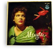 "Maysa - 10"" Brazil, Latin American Lp from South America Canvas Print"