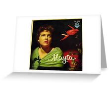 "Maysa - 10"" Brazil, Latin American Lp from South America Greeting Card"