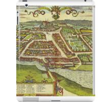 Kolding Vintage map.Geography Denmark ,city view,building,political,Lithography,historical fashion,geo design,Cartography,Country,Science,history,urban iPad Case/Skin