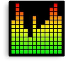 Audio Spectrum Bars Canvas Print