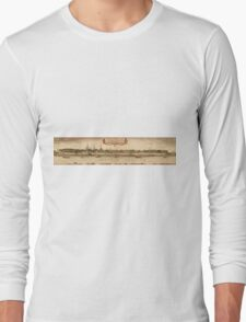 Bonn Vintage map.Geography Germany ,city view,building,political,Lithography,historical fashion,geo design,Cartography,Country,Science,history,urban Long Sleeve T-Shirt