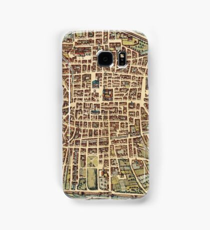 Bologna Vintage map.Geography Italy ,city view,building,political,Lithography,historical fashion,geo design,Cartography,Country,Science,history,urban Samsung Galaxy Case/Skin