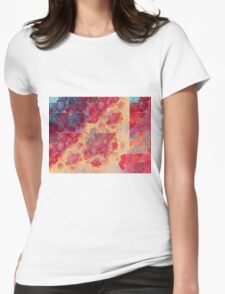 Red Clouds - Abstract Fractal Artwork Womens Fitted T-Shirt