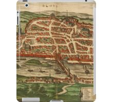 Blois Vintage map.Geography France ,city view,building,political,Lithography,historical fashion,geo design,Cartography,Country,Science,history,urban iPad Case/Skin