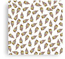 Rainbow Human Ice Cream Pattern Canvas Print