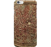 Brugge Vintage map.Geography Belgium ,city view,building,political,Lithography,historical fashion,geo design,Cartography,Country,Science,history,urban iPhone Case/Skin