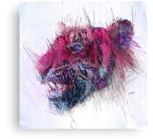 Pink Tiger [Straight Lines] Canvas Print