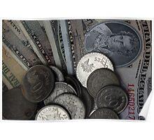 Ecuadorian Coins and Notes Poster